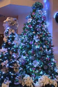 silver purple and blue themed christmas tree in led ligh flickr