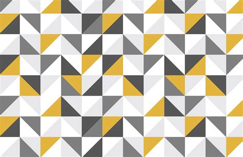 Yellow and Grey Abstract Geometric Wallpaper Murals
