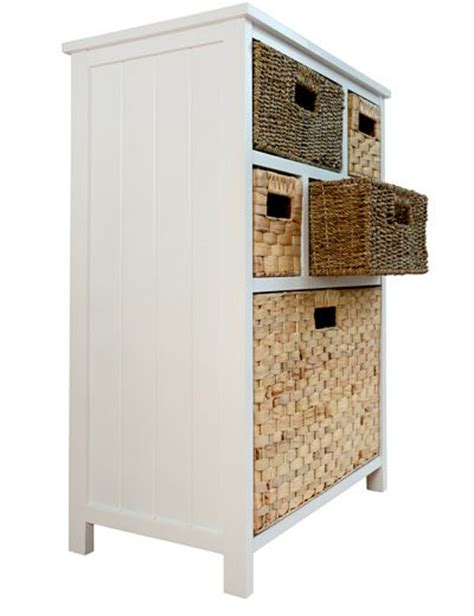white cabinet with baskets statement furniture uk tetbury white cabinet with 5