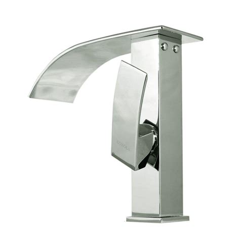 waterfall bathroom faucet chrome kokols accent series single hole 1 handle cascade