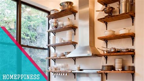 creative kitchen shelves ideas  small