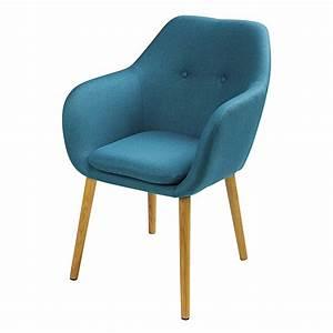 Fauteuil Crapaud Bleu Canard : fauteuil en tissu bleu arnold maisons du monde ~ Teatrodelosmanantiales.com Idées de Décoration