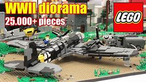 LEGO WWII diorama - German airbase - 25.000+ bricks. - YouTube
