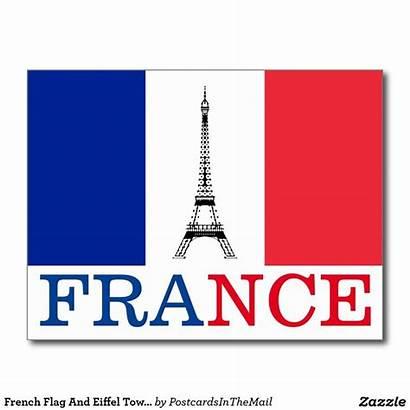 Flag France Paris French Eiffel Postcard Tower