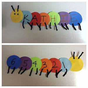 preschool number crafts preschool craft spelling names With craft numbers and letters