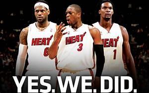 NBA Wallpapers: Miami Heat - Lebron James, Dwyane Wade ...