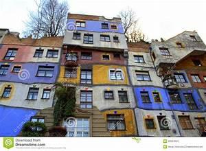 Maison Colore Vienne Image Stock Image Du Autriche