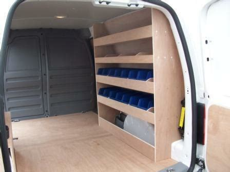 vw caddy maxi racking plywood shelving with storage bins ebay