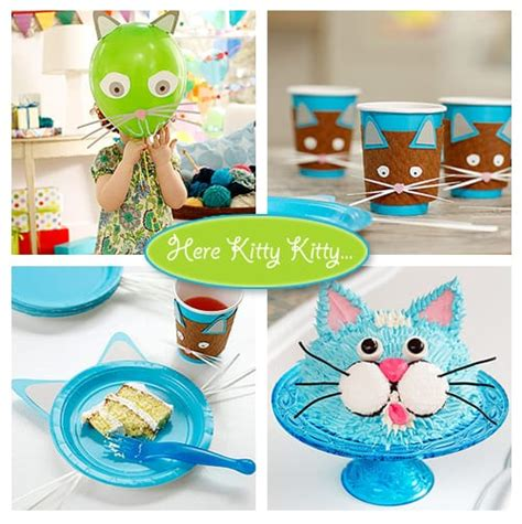 Cat Themed Birthday Party  Living Locurto