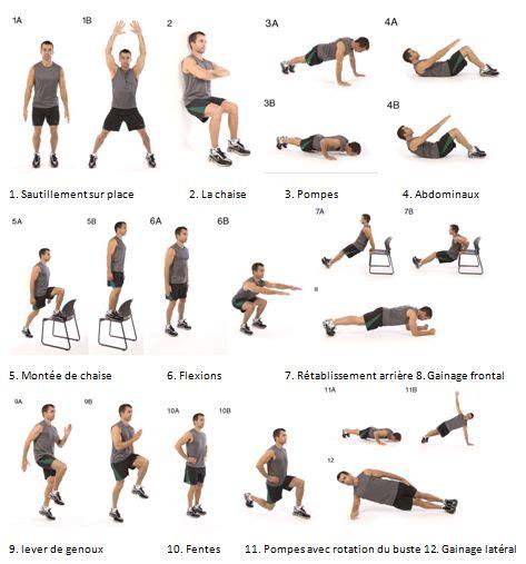 12 exercices intenses en 7 minutes pour musculation parfaite
