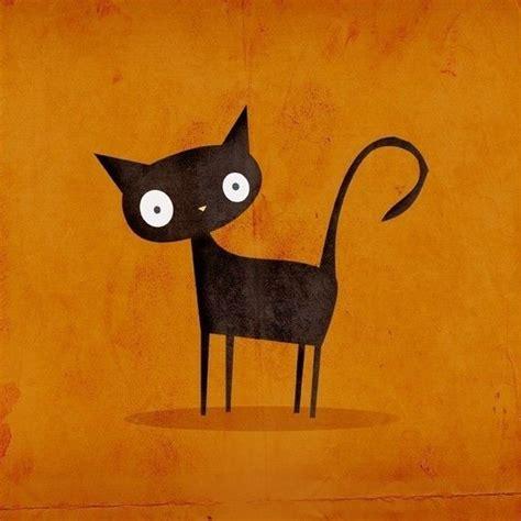 cat illustrations ideas  pinterest cat doodle