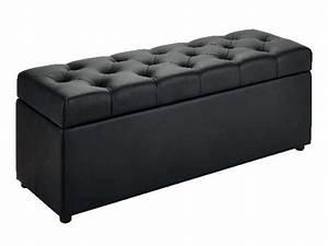 Banc Coffre De Rangement Conforama : banc coffre 120x45 cm botai coloris noir vente de pouf ~ Dailycaller-alerts.com Idées de Décoration