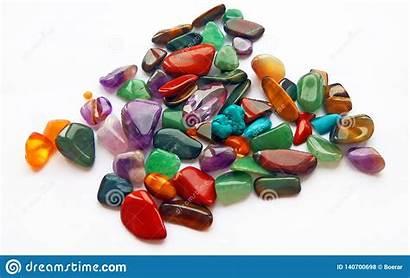 Precious Semi Gemstones Coloured Gems Bright Natural