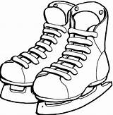 Coloring Shoes Ice Pages Packers Bay Skating Green Skate Helmet Drawing Hockey Clipart Shoe Cliparts Skates Clip Ballet Sheets Dance sketch template
