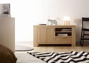 Meuble Chene Clair : acheter votre meuble t l contemporain en ch ne clair ~ Edinachiropracticcenter.com Idées de Décoration