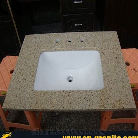 Yellow Bathroom Vanity Tops by Vanity Top With Integral Bowl China G682 Granite Vanity