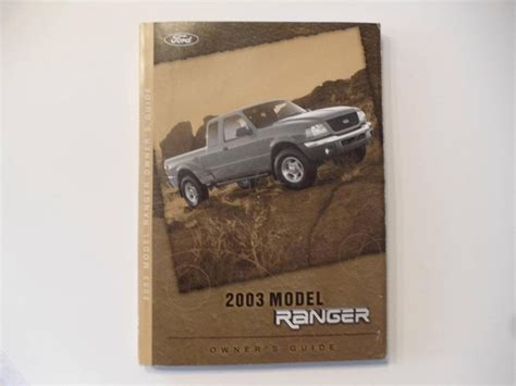 ford ranger owners manual book owners manuals