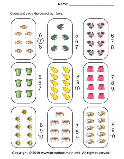 Free Printable Kindergarten Math Counting Worksheets