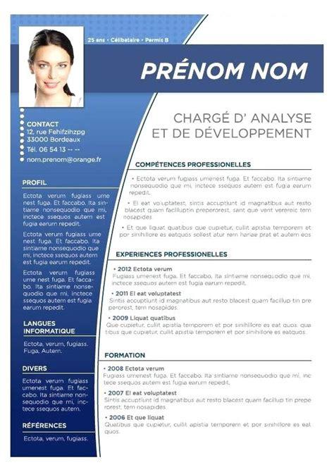 Mode Cv Word by Template Cv Professionnel Mod 232 Le De Cv 233 Tudiant