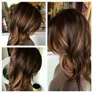 Medium brown hair with chestnut lowlights and caramel ...