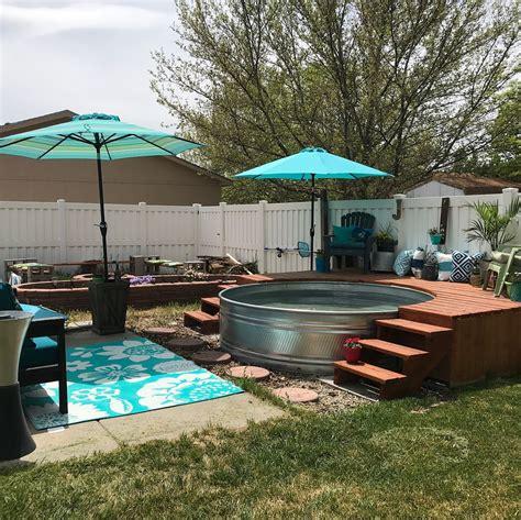 stock tank pool  summer