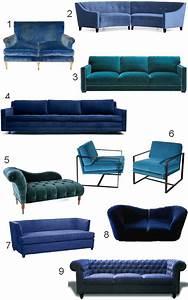 Blue Velvet Sofa on Pinterest