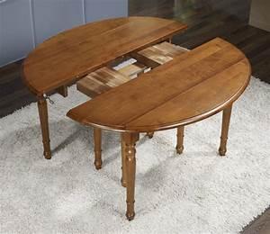Table ovale à volets 135x110 en Merisier de style Louis Philippe avec 7 allonges de 40 cm