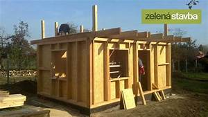 Stavba chaty z osb desek