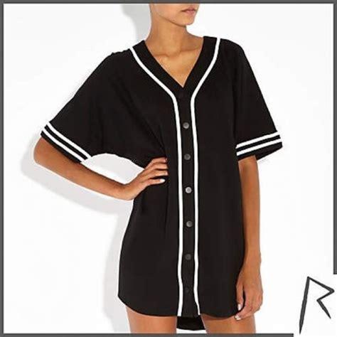 oversized kitchen island blouse rihanna rivers island baseball jersey wheretoget