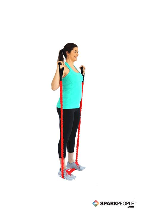 squats  band exercise demonstration sparkpeople