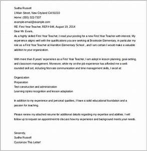 cover letter template 20 free word pdf documents With first year teacher cover letter examples