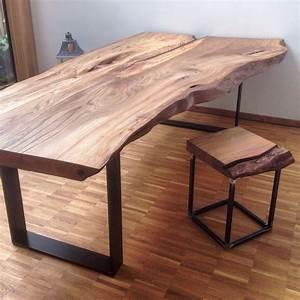 Holztisch Massiv Esszimmer : massivholztisch baumtisch massivholzplatte esstisch holztisch aus ulmenholz ~ Indierocktalk.com Haus und Dekorationen