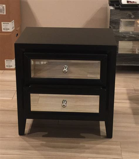 Black Mirrored Nightstand letgo black mirrored nightstand set 2 in rancho park ca