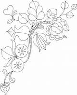 Flowers Coloring Printable Blooms Flores Bordar Riscos Zweig Kunst Fiori Corner Border Blaetter Bordados Colorare Embroidery Supercoloring Malvorlage Mode Pintar sketch template