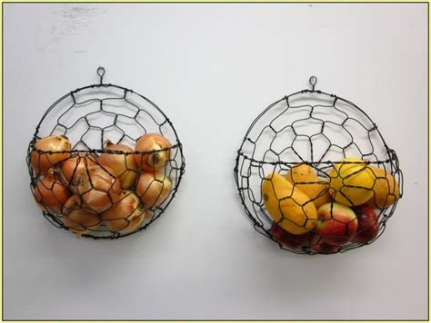 wall mounted fruit basket decorative  functional wall feature homesfeed