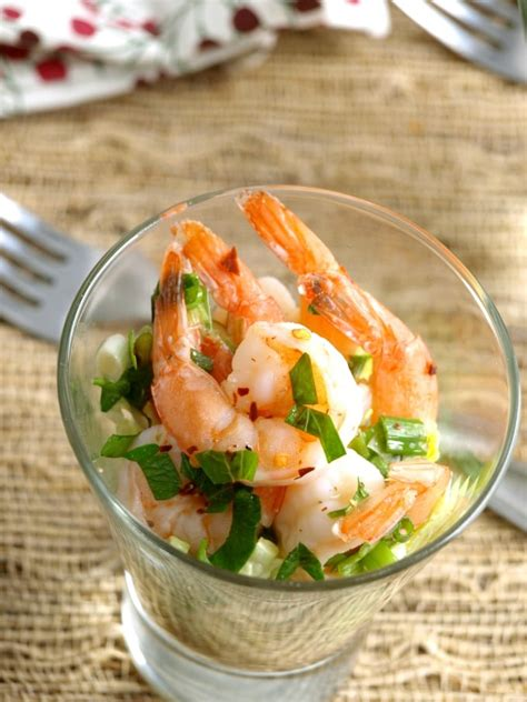 If fresh shrimp are to be served, devein and wash shrimp. Marinated Shrimp