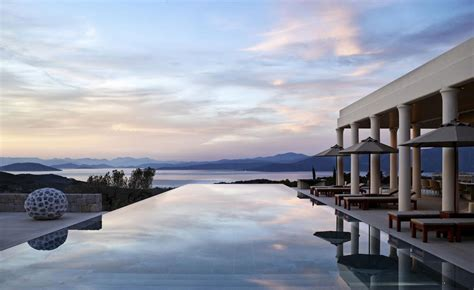 amanzoe villa greece residences architecture greek aman inspired sky luxury hotels traditional resort plain resorts designcurial sunset romantic seven anniversary