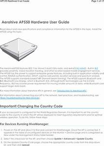 Aerohive Networks Ap550 Access Point User Manual Ap550