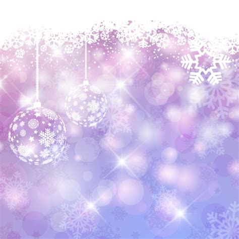 Purple Pastel Snowflake Background by Purple Shiny Background With Baubles Vector