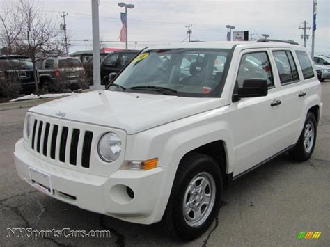 new jeep white 2008 jeep patriot sport in stone white clearcoat 708072