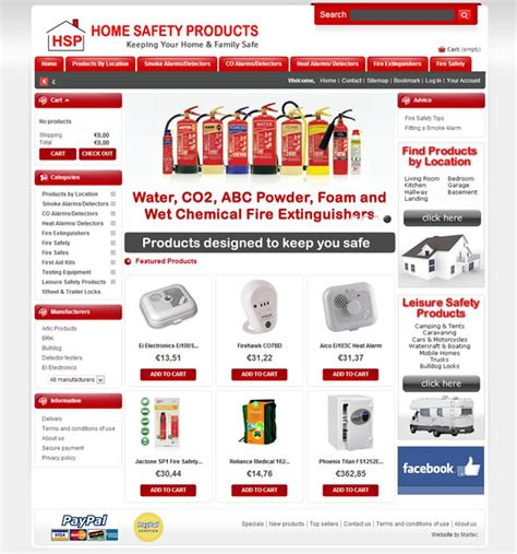Home Safety Products Ecommerce Website