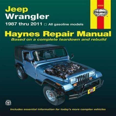free online car repair manuals download 1994 jeep cherokee windshield wipe control 1987 2011 jeep wrangler repair manual 03 2004 2005 2006 2007 2008 2009 2010 983x 9781563929830