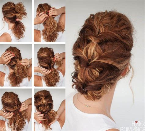 hairstyle tutorials for curly hair 7 easy hairstyle tutorials for curly hair