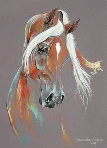 Chestnut Arabian Horse Painting by Paulina Stasikowska