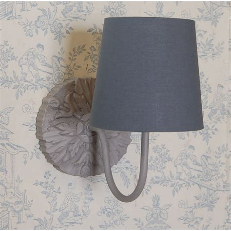 wall lights grey shade carved wooden wall light with grey linen light shade