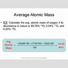 What Is The Formula Of Average Atomic Mass? Quora