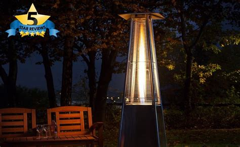 pyramid outdoor gas patio heater with flame facias
