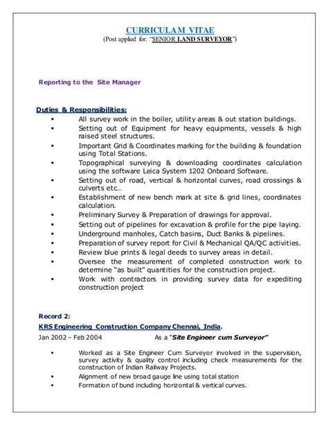 land surveyor resume resume ideas