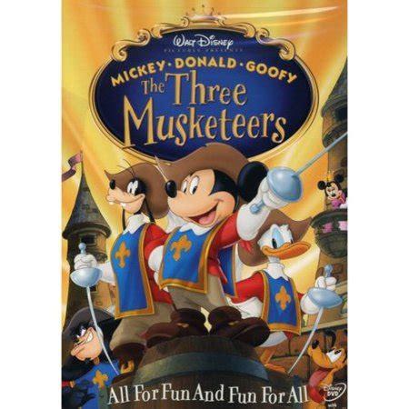 musketeers  animated dvd buena vista