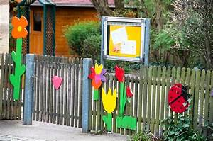 Nicely decorated kindergarten entrance at an elementary